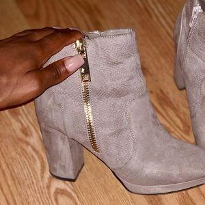 Chunky heeled booties
